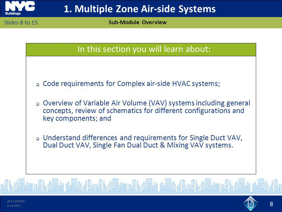 1. Multiple Zone Air-side Systems