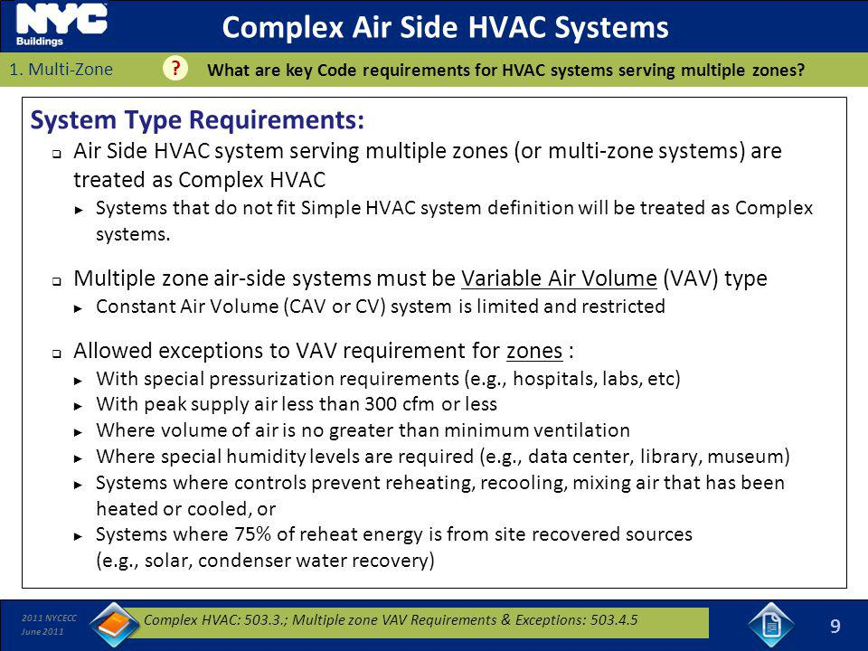 Complex Air Side HVAC Systems