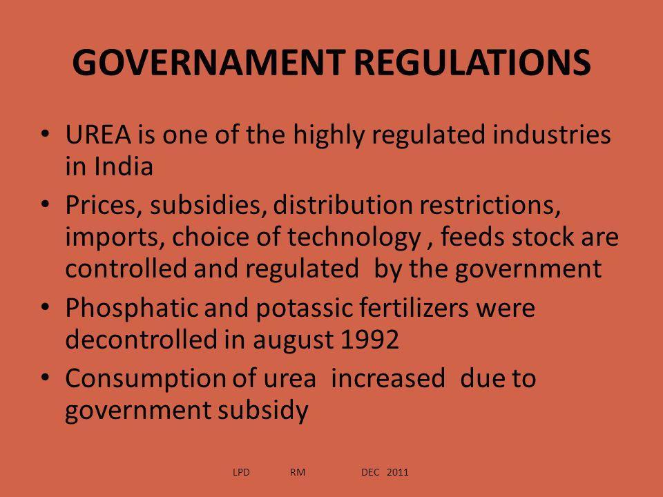 GOVERNAMENT REGULATIONS