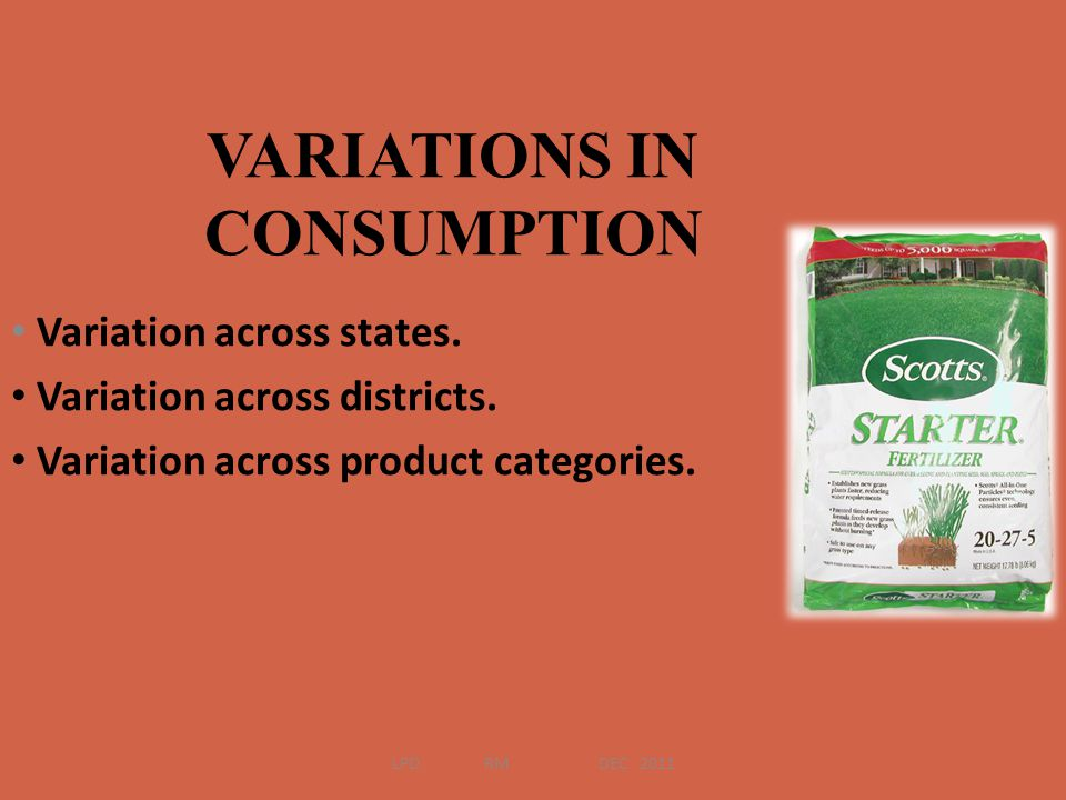 VARIATIONS IN CONSUMPTION