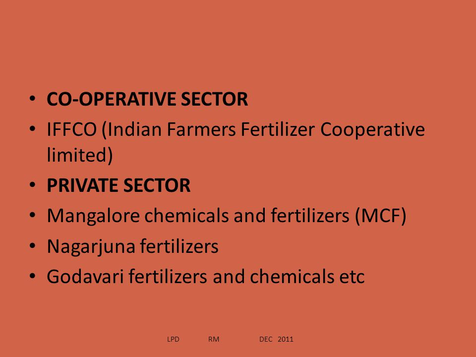 IFFCO (Indian Farmers Fertilizer Cooperative limited) PRIVATE SECTOR