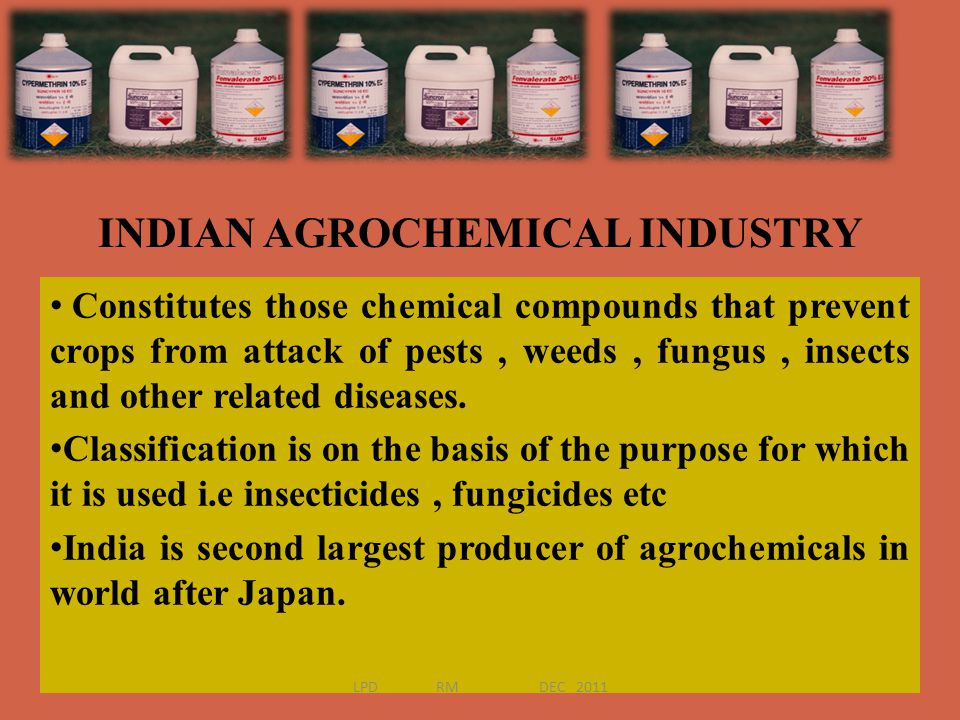 INDIAN AGROCHEMICAL INDUSTRY