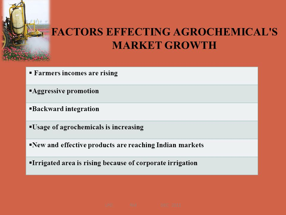FACTORS EFFECTING AGROCHEMICAL S MARKET GROWTH