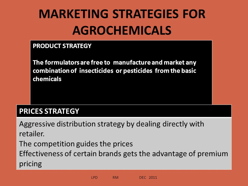 MARKETING STRATEGIES FOR AGROCHEMICALS