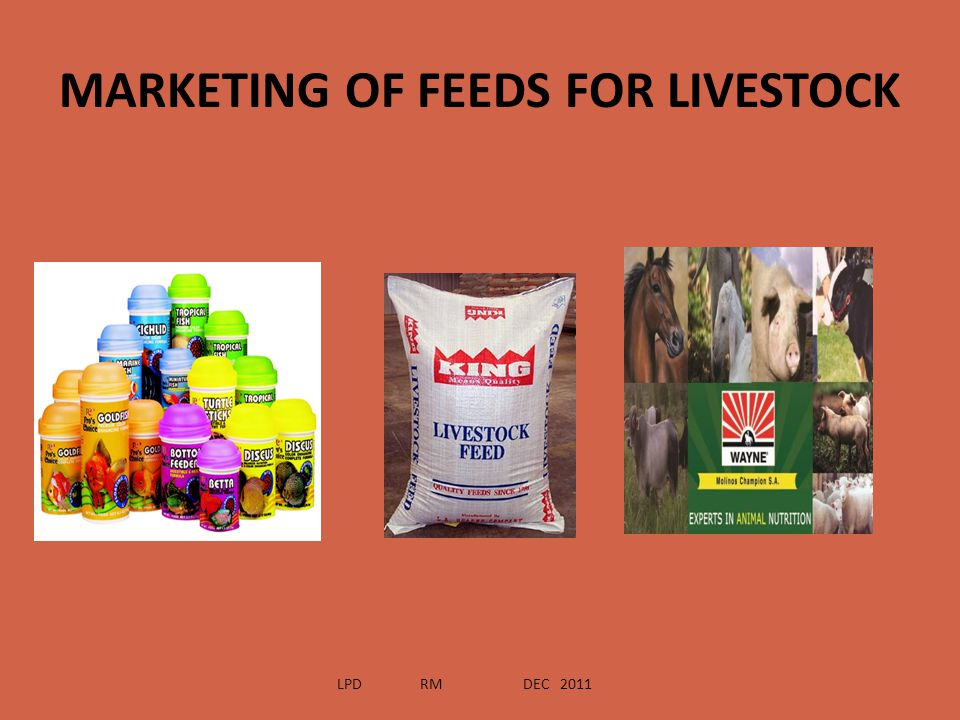 MARKETING OF FEEDS FOR LIVESTOCK