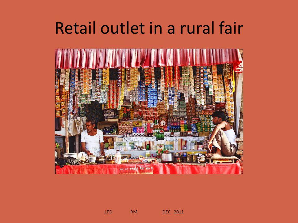 Retail outlet in a rural fair