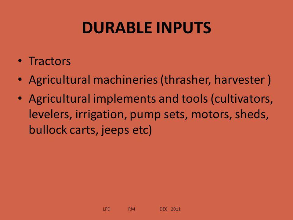 DURABLE INPUTS Tractors