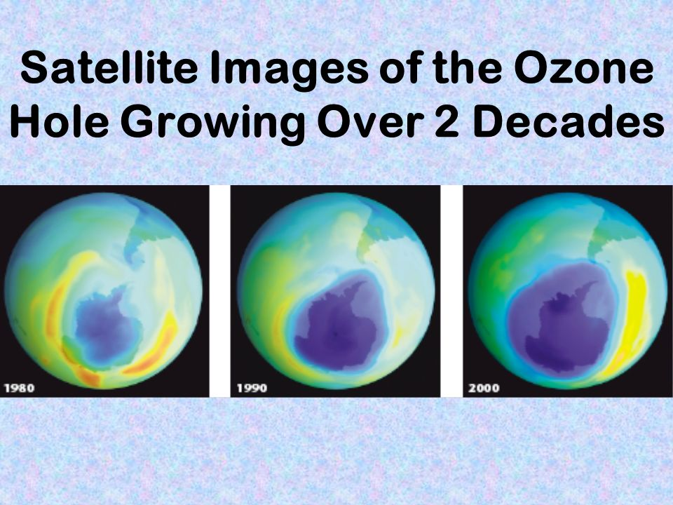 Satellite Images of the Ozone Hole Growing Over 2 Decades