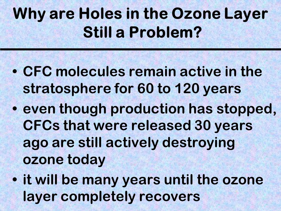Why are Holes in the Ozone Layer Still a Problem