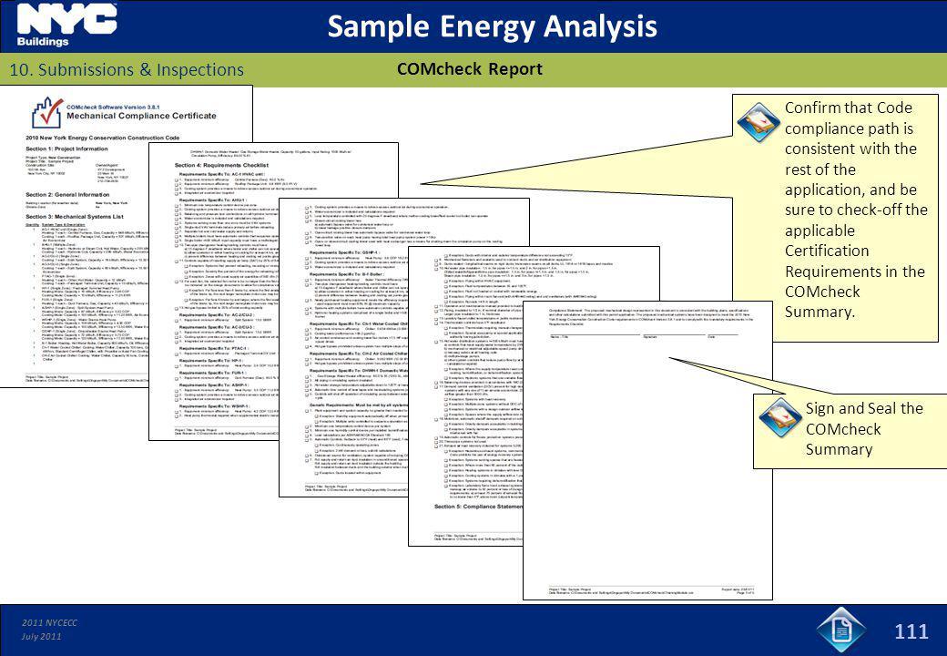 Sample Energy Analysis