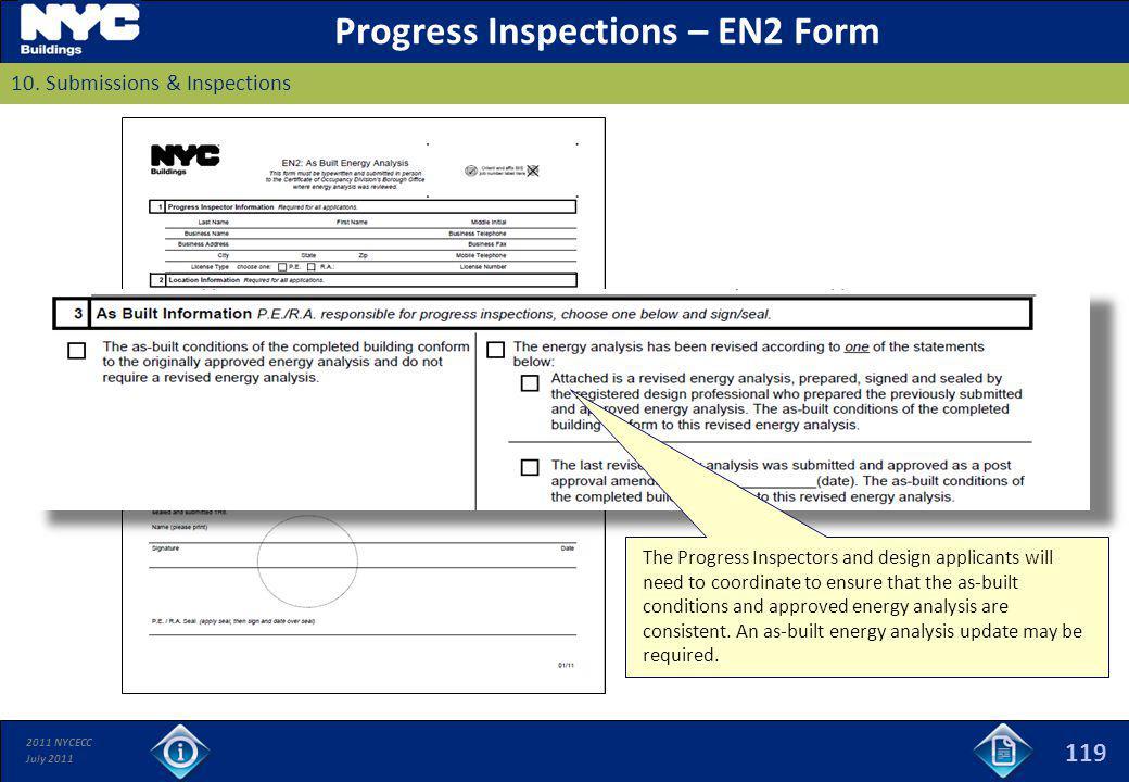 Progress Inspections – EN2 Form