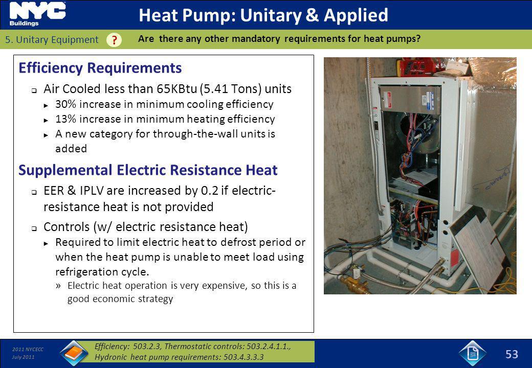 Heat Pump: Unitary & Applied