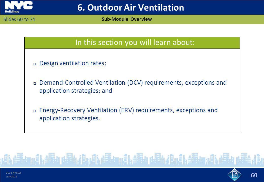 6. Outdoor Air Ventilation