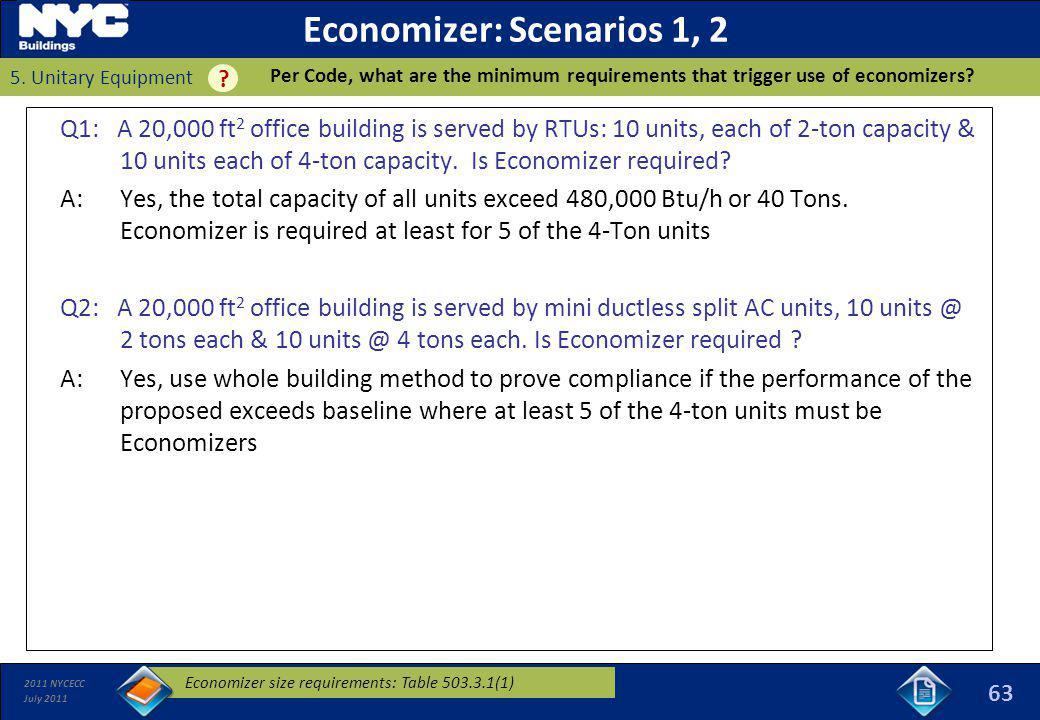 Economizer: Scenarios 1, 2