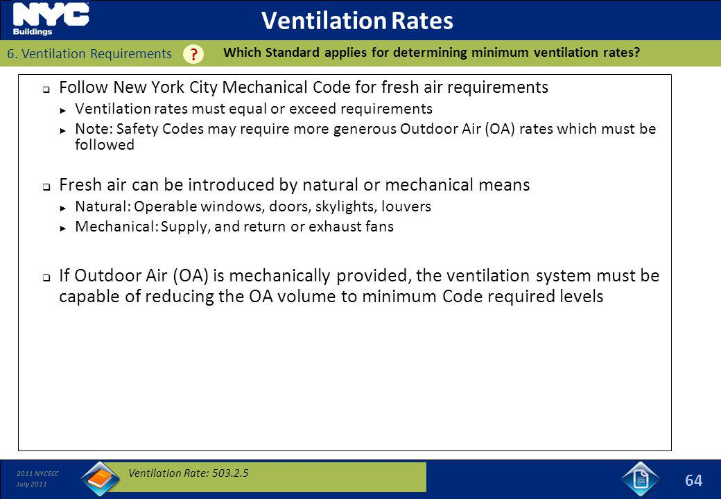 Building hvac 1 requirements ppt download for Table 6 4 minimum exhaust rates