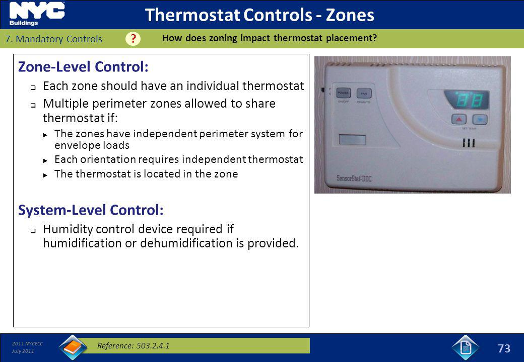 Thermostat Controls - Zones