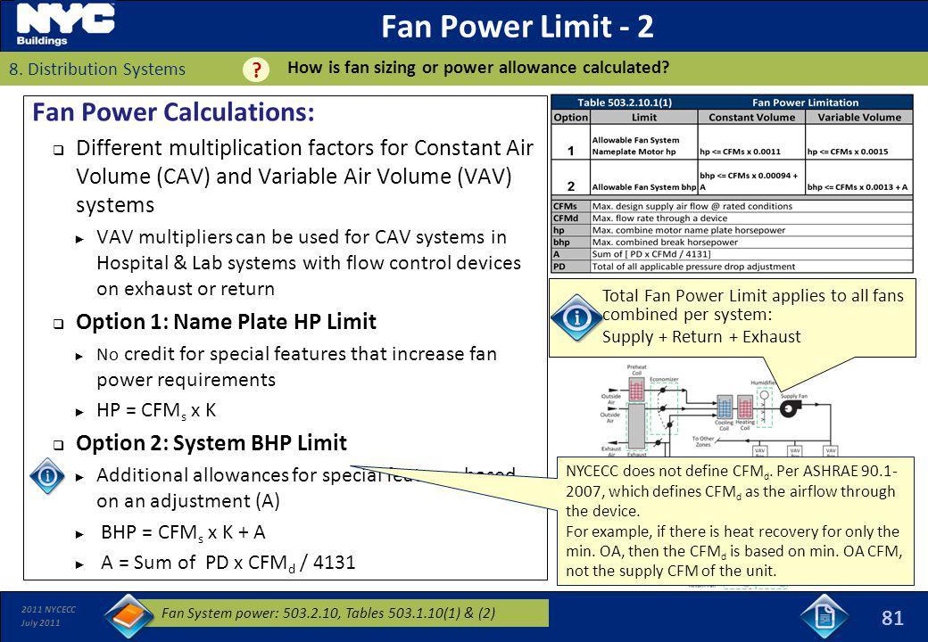Fan Power Limit - 2 Fan Power Calculations: