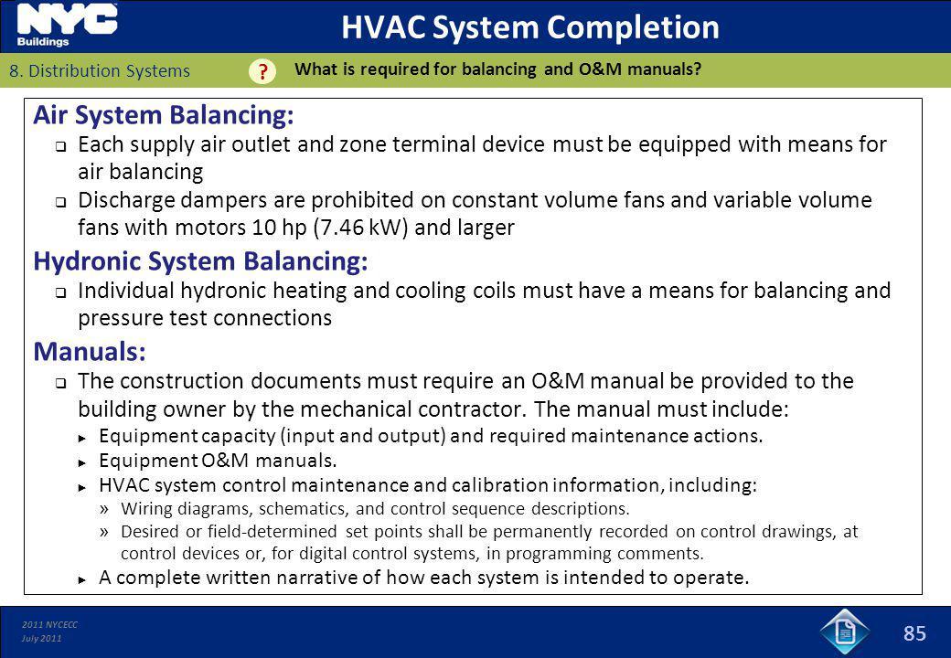 HVAC System Completion