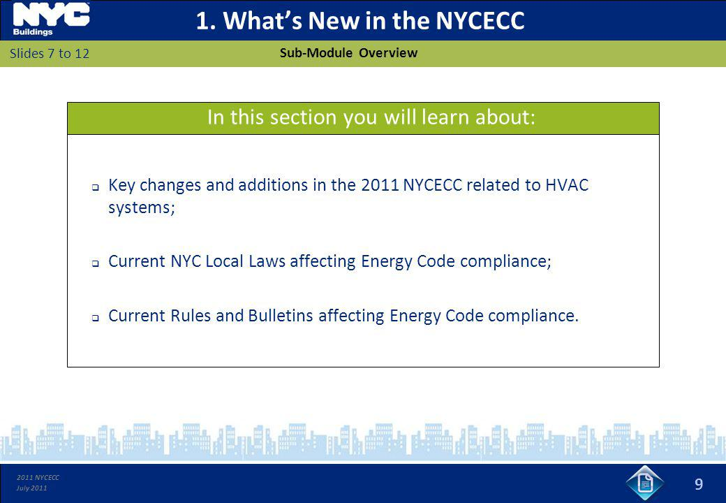 1. What's New in the NYCECC