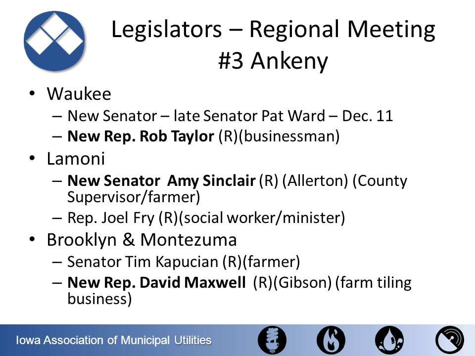 Legislators – Regional Meeting #3 Ankeny