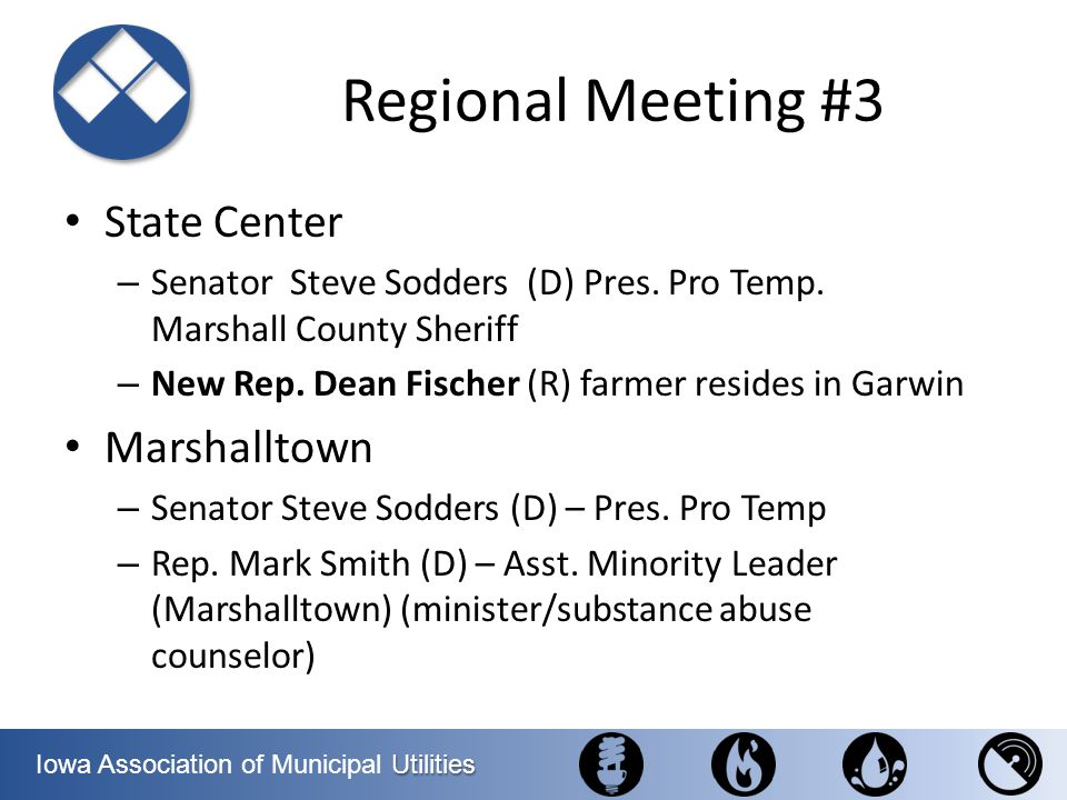 Regional Meeting #3 State Center Marshalltown