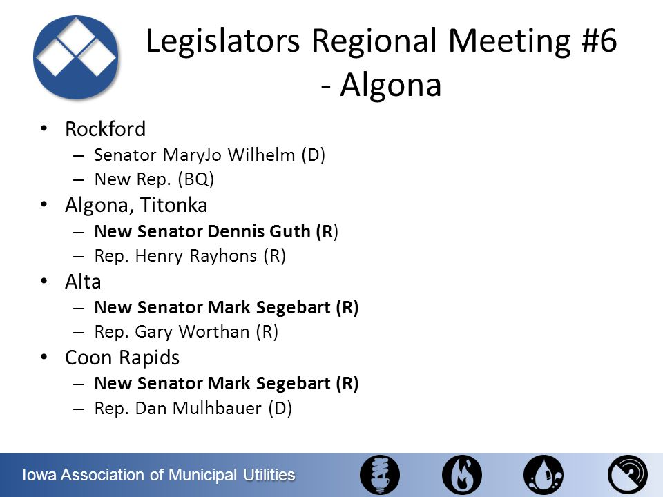 Legislators Regional Meeting #6 - Algona