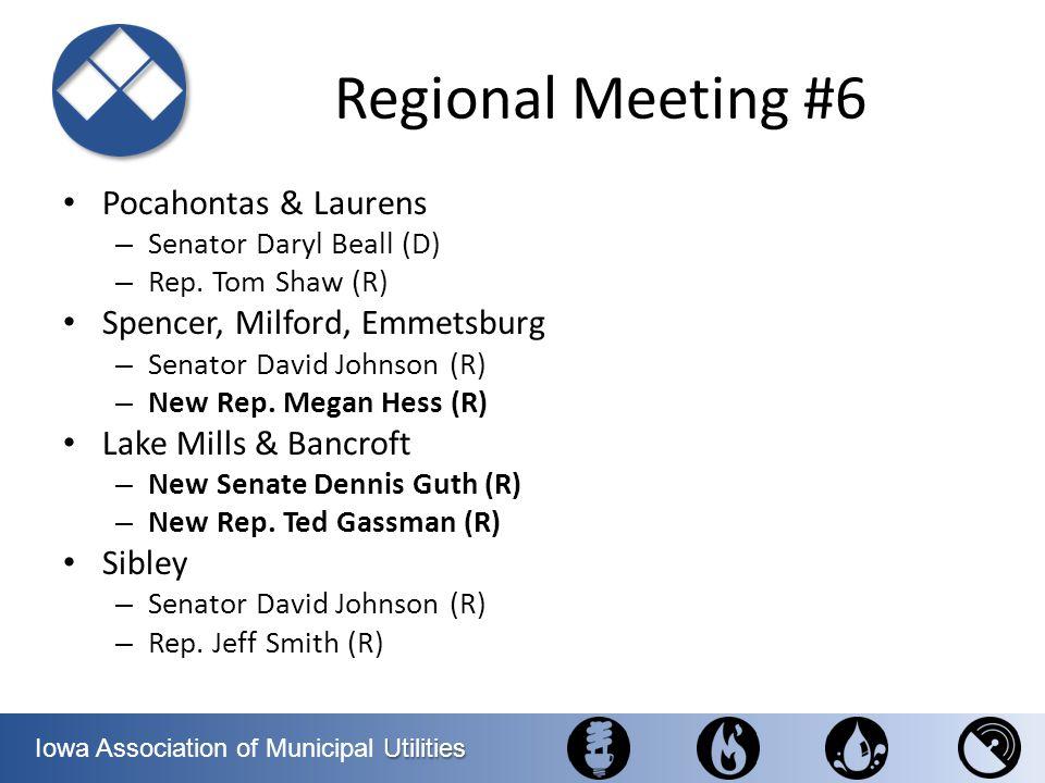 Regional Meeting #6 Pocahontas & Laurens Spencer, Milford, Emmetsburg