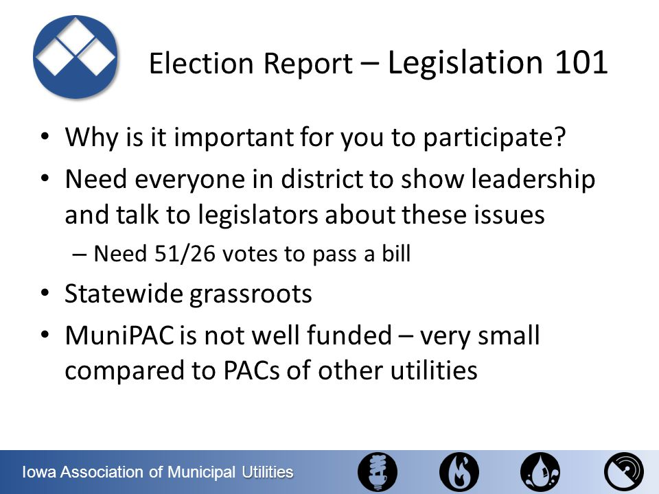 Election Report – Legislation 101