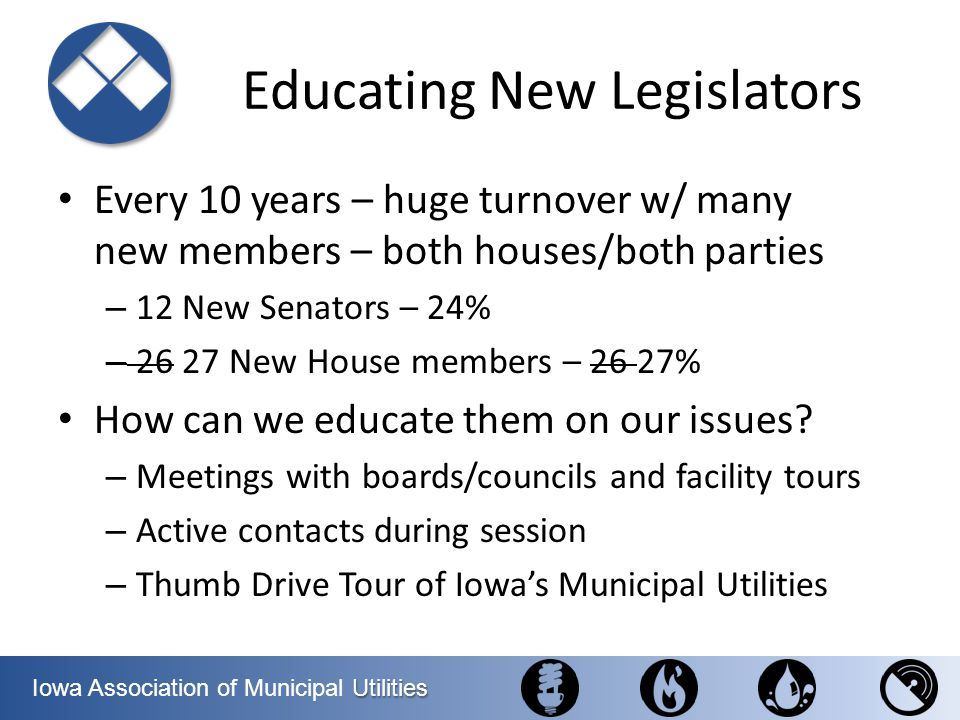 Educating New Legislators