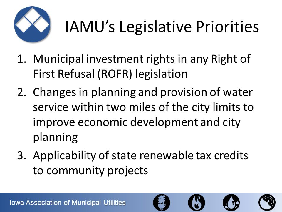 IAMU's Legislative Priorities