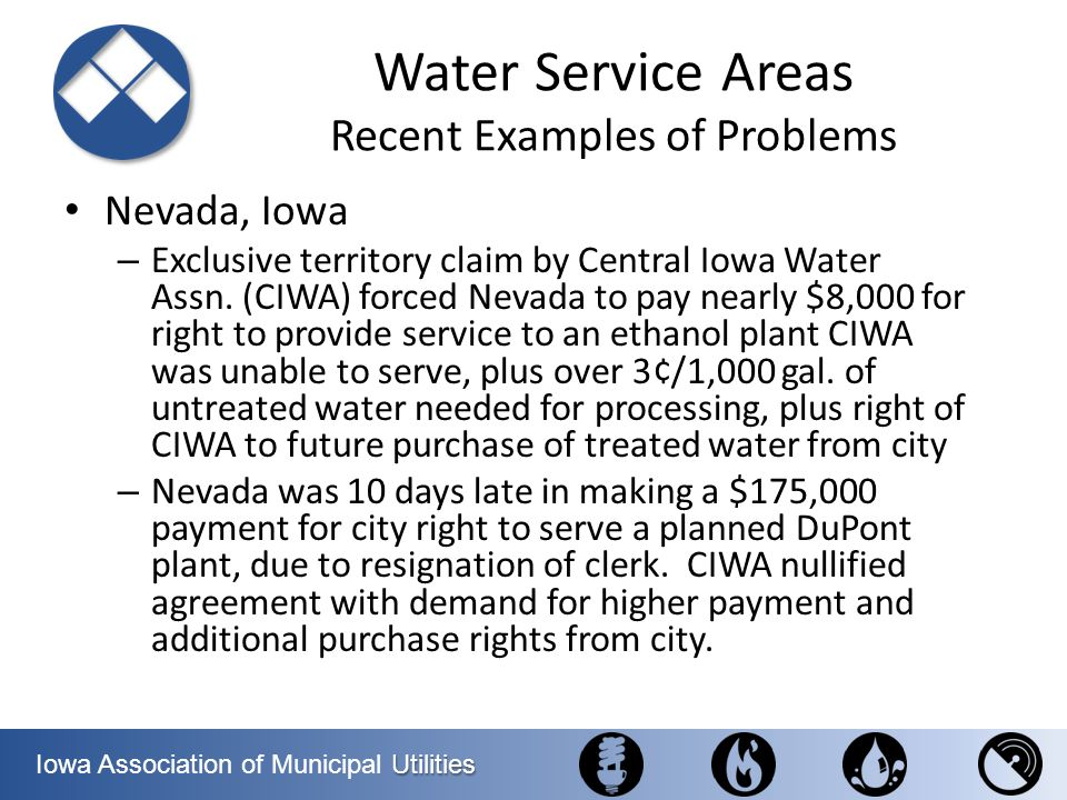 Water Service Areas Recent Examples of Problems