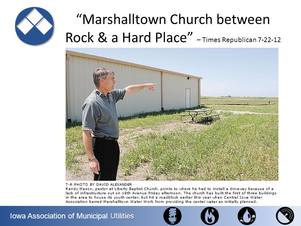 Marshalltown Church between Rock & a Hard Place – Times Republican 7-22-12