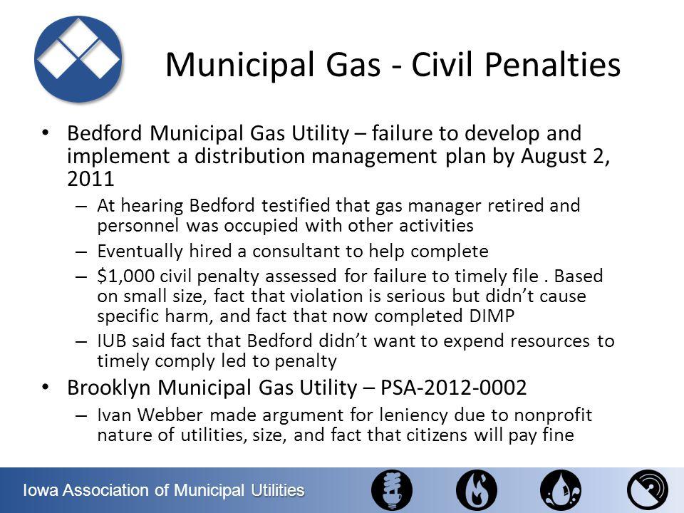Municipal Gas - Civil Penalties