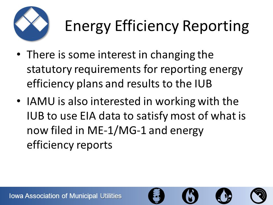 Energy Efficiency Reporting