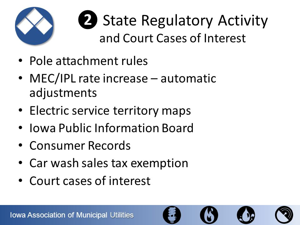 ❷ State Regulatory Activity and Court Cases of Interest
