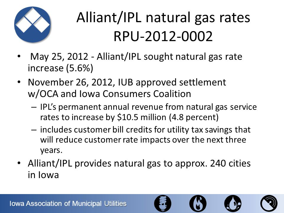 Alliant/IPL natural gas rates RPU-2012-0002