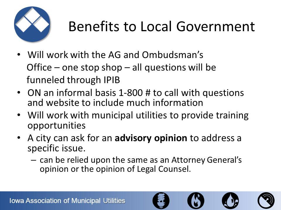 Benefits to Local Government