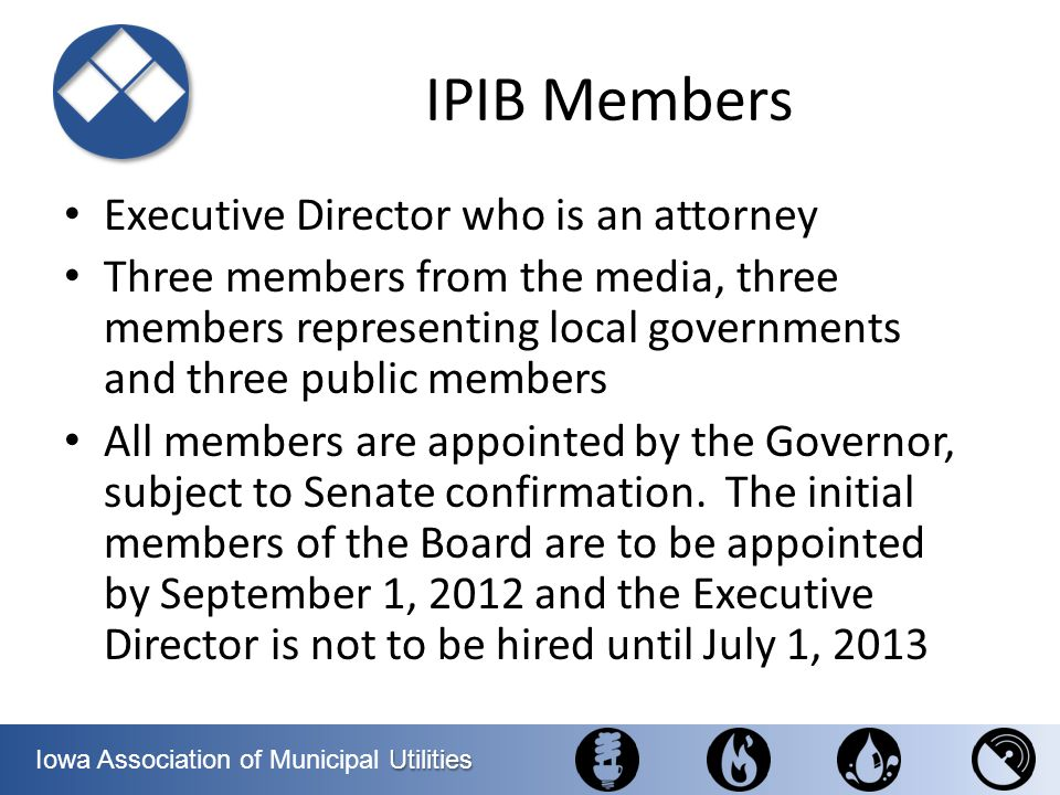 IPIB Members Executive Director who is an attorney
