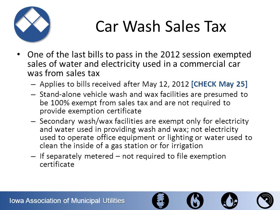 Car Wash Sales Tax