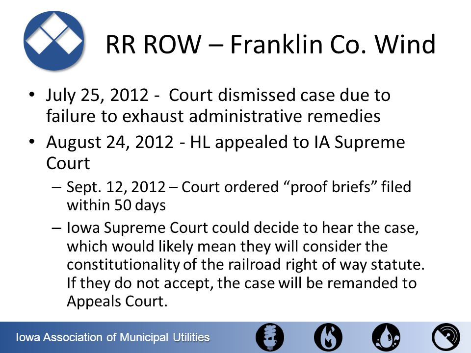 RR ROW – Franklin Co. Wind