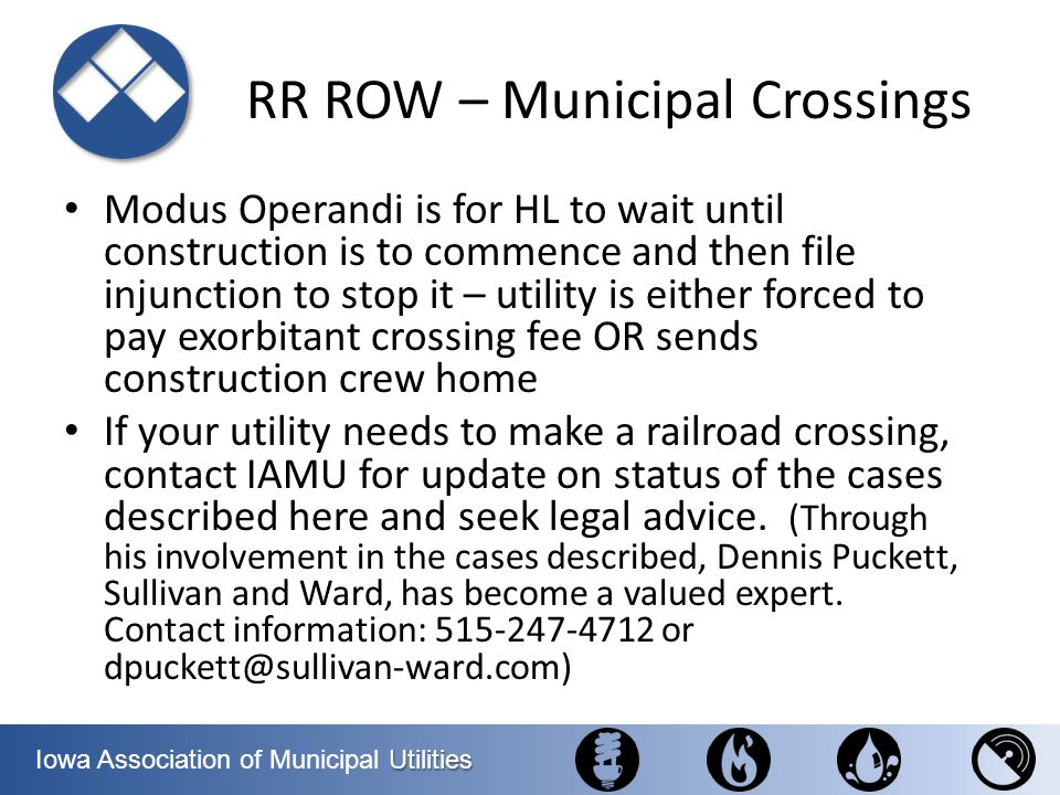 RR ROW – Municipal Crossings