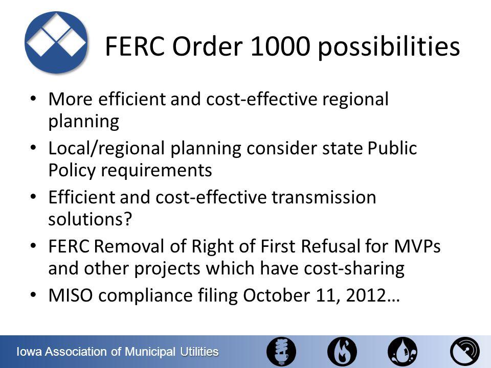 FERC Order 1000 possibilities
