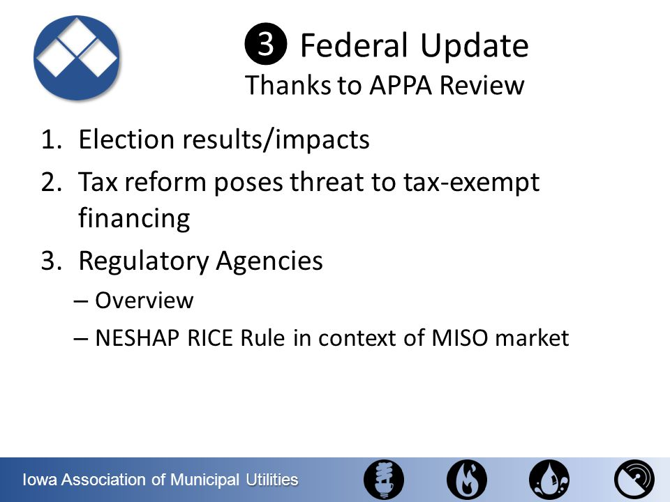 ❸ Federal Update Thanks to APPA Review