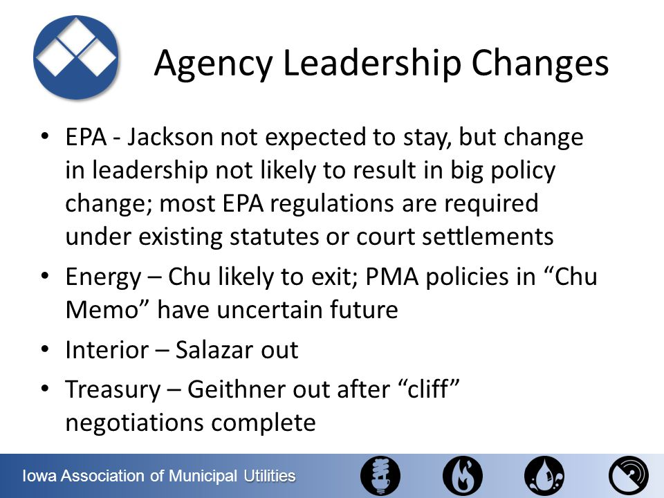 Agency Leadership Changes