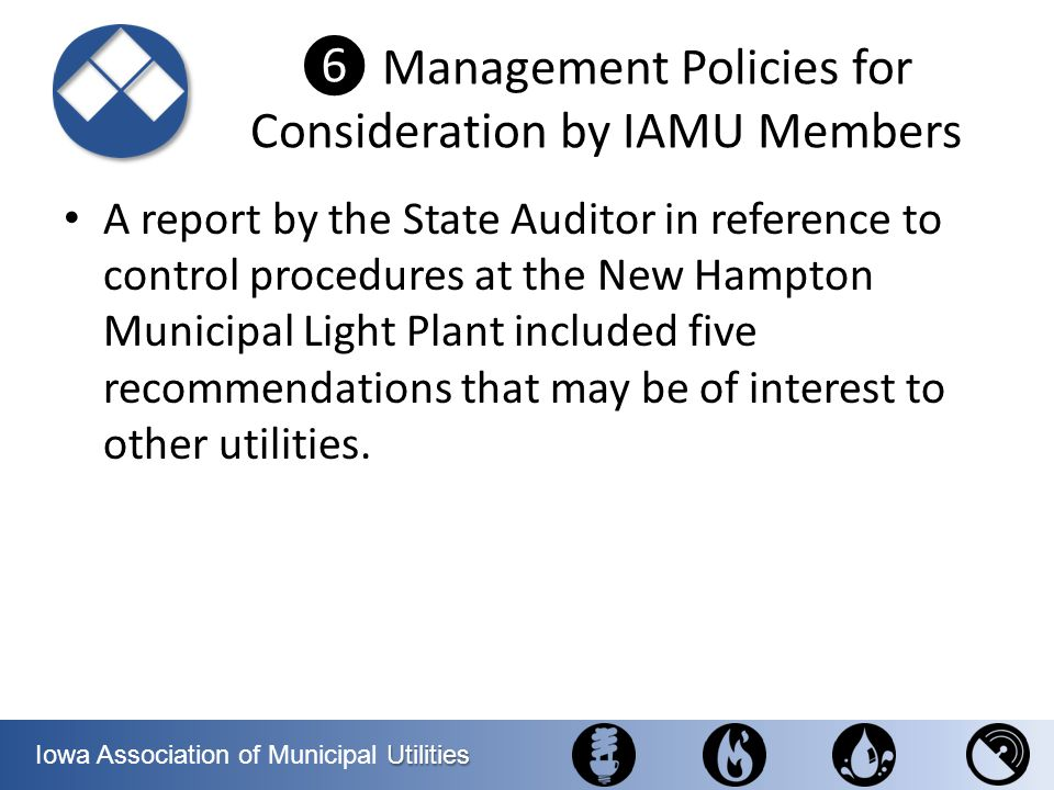 ❻ Management Policies for Consideration by IAMU Members
