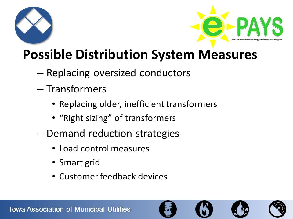 Possible Distribution System Measures