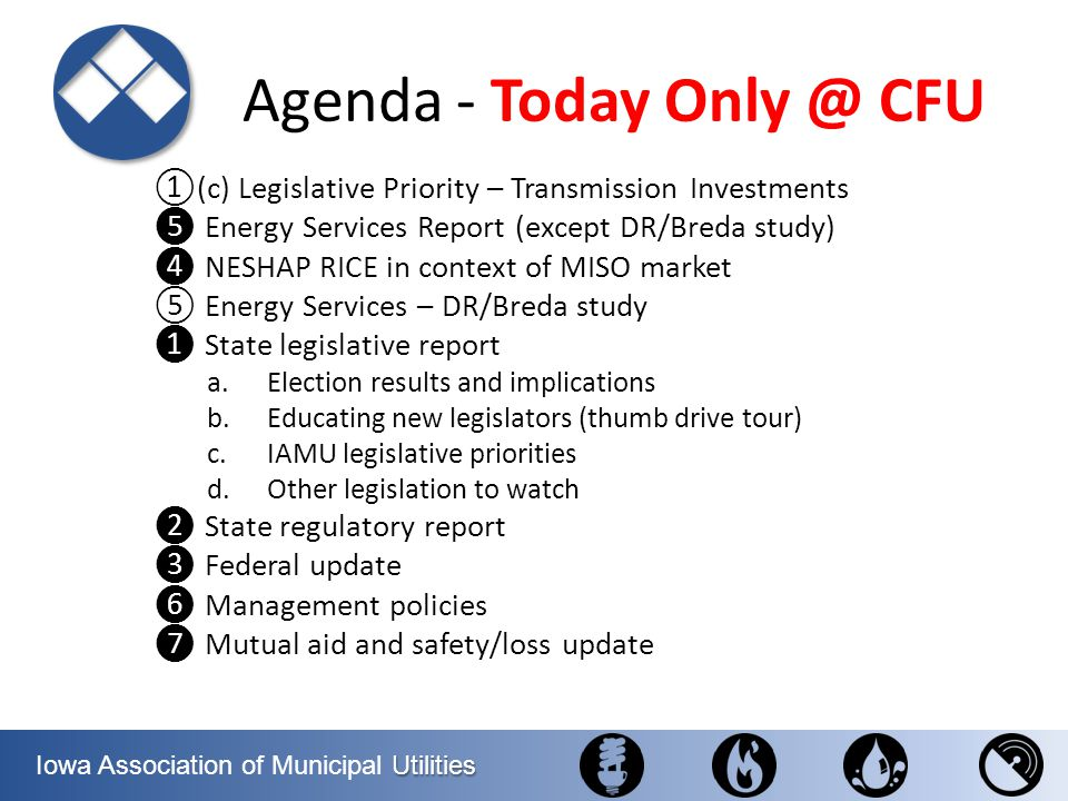 Agenda - Today Only @ CFU
