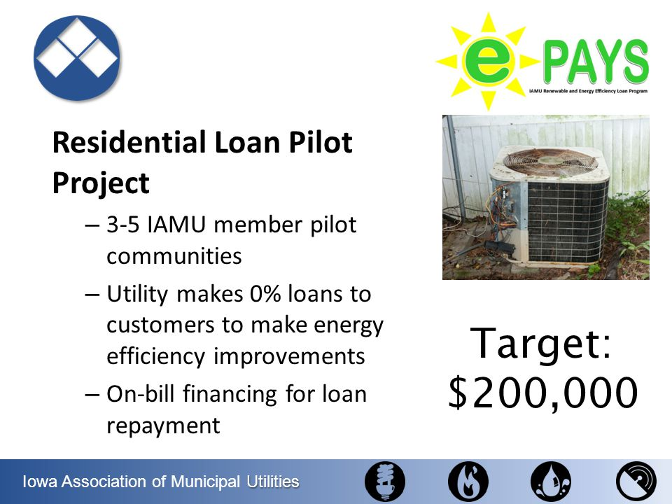 Target: $200,000 Residential Loan Pilot Project