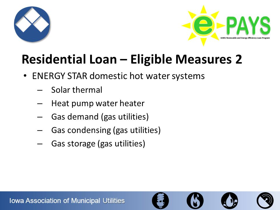 Residential Loan – Eligible Measures 2