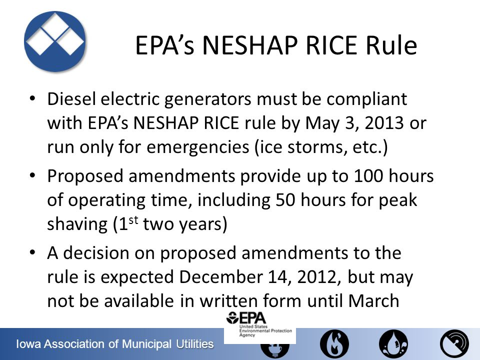 EPA's NESHAP RICE Rule